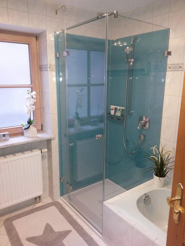 Duschrückwand Glas duschrückwände - glaserei bayrhof